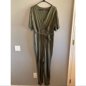 Green Maternity Jumpsuit